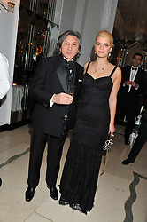 PIXIE GELDOF and LEON MAX at a dinner and dance hosted by Leon Max for the charity Too Many Women in support of Breakthrough Breast Cancer held at Claridges, Brook Street, London on 1st December 2011.