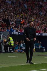 October 28, 2017 - Madrid, Spain - Simeone (coach of Atletico de Madrid)..Draw at 1 in Wanda Metropolitano stadium. (Credit Image: © Jorge Gonzalez/Pacific Press via ZUMA Wire)