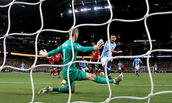 Manchester City's Ilkay Gundogan scores his side's third goal of the game scores his side's third goal of the game during the Premier League match at the Etihad Stadium, Manchester.