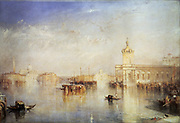 Venice: The Dogana (Customs Office), San Giorgio, Citella, from the Steps of the Europa' 1842:   Joseph Mallord Willliam Turner (1775-1851) English artist. Oil on canvas.