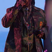 Reggae Artist Jepther McClymont AKA Luciano the messenger performs on stage during The 19th Annual Bob Marley People's Festival Saturday July 27, 2013, at Tubman-Garrett Riverfront Park in Wilmington Delaware.