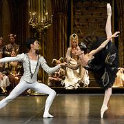 The St Petersburg Ballet Theatre performing SWAN LAKE at The Coliseum London UK  on 22.08.2018 Yulia Stepnova and Kimin Kim