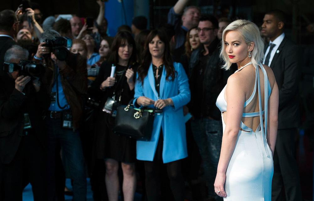 US actress Jennifer Lawrence arrives for a global screening of 'XMEN Apocalypse' in London, Britain, 9 May 2016. The movie which is the latest in the XMEN franchise will be released in the UK on 18 May 2016. EPA/WILL OLIVER