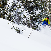 Forrest Jillson getting chili dipper air in the Teton side country.