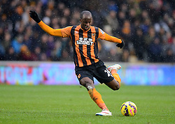 Hull City's Sone Aluko in action - Photo mandatory by-line: Richard Martin-Roberts/JMP - Mobile: 07966 386802 - 31/01/2015 - SPORT - Football - Hull - KC Stadium - Hull City v Newcastle United - Barclays Premier League