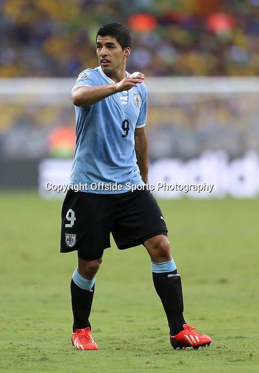 26th June 2013 - FIFA Confederations Cup 2013 (Semi-Final) - Brazil v Uruguay - Luis Suarez of Uruguay - Photo: Simon Stacpoole / Offside.