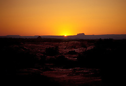 Sunset, looking west from the Needles unit of Canyonlands National Park.
