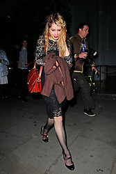 Peaches Geldof enjoys a night out the Bungalow 8 club in central London, UK. 13/05/2009<br />