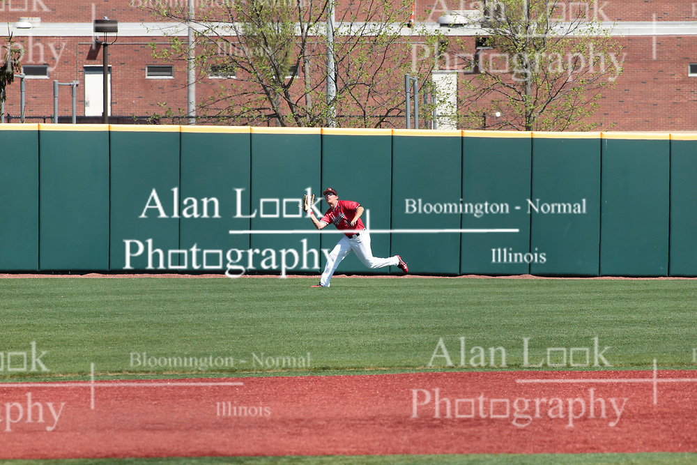 05 May 2018:  Jack Butler during an NCAA Division I Baseball game between the Bradley Braves and the Illinois State Redbirds in Duffy Bass Field, Normal IL