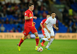 Gareth Bale of Wales (Real Madrid) in action during the second half of the match - Photo mandatory by-line: Rogan Thomson/JMP - Tel: Mobile: 07966 386802 10/09/2013 - SPORT - FOOTBALL - Cardiff City Stadium - Cardiff -  Wales V Serbia- World Cup Qualifier.