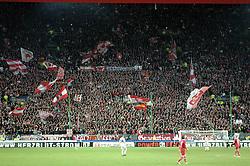 22.02.2010, Fritz Walter Stadion, Kaiserslautern, GER, 2. FBL, 1.FC Kaiserslautern vs FC St. Pauli, im Bild die Westkurve mmit Fans des FCK, EXPA Pictures © 2010, PhotoCredit: EXPA/ nph/  Roth / for Slovenia SPORTIDA PHOTO AGENCY.