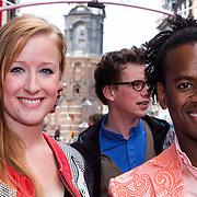 NLD/Amsterdam/20130921 - Premiere Planes, Rogier Komproe, en partner en kinderen Noa en Alfie