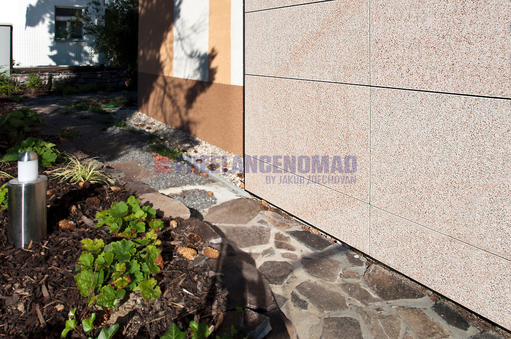 G682 Granite natural stone Padang Yellow China wall facing veneer panels exterior project garden landscaping detail