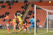 Bristol Rovers Midfielder, Liam Sercombe (7) sees his effort over the bar during the EFL Sky Bet League 1 match between Blackpool and Bristol Rovers at Bloomfield Road, Blackpool, England on 3 November 2018.