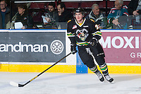 KELOWNA, CANADA - JANUARY 26: _____of the Prince Albert Raiders skates on the ice at the Kelowna Rockets on January 26, 2013 at Prospera Place in Kelowna, British Columbia, Canada (Photo by Marissa Baecker/Shoot the Breeze) *** Local Caption ***