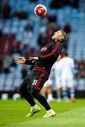 Bastian Schweinsteiger of Manchester United warms up - Mandatory byline: Rogan Thomson/JMP - 07966 386802 - 14/08/2015 - FOOTBALL - Villa Park Stadium - Birmingham, England - Aston Villa v Manchester United - Barclays Premier League.