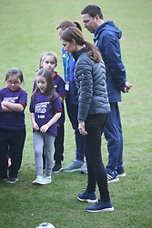 February 27, 2019 - Belfast, United Kingdom - Image licensed to i-Images Picture Agency. 27/02/2019. Belfast , United Kingdom. The Duke and Duchess of Cambridge at  the Irish Football Association at  Windsor Park in Belfast, Northern Ireland. (Credit Image: © Stephen Lock/i-Images via ZUMA Press)