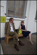 RICHARD GRAYSON; MELANIE JACKSONMatt's Gallery 35th birthday fundraising supper.  42-44 Copperfield Road, London E3 4RR. 12 June 2014.