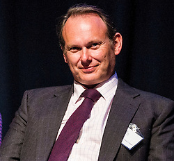 Pictured: Derek Cribb, Chief Executive, Institure and Faculty of Actuaries chaired the event<br /> <br /> The Institute and Faculty of Actuaries hosted a flagship European Union referendum debate for around 250 delegates in Edinburgh tonight. Speakers at the event were Matthew Anderson, member of the Advisory Board - Britain Stronger in Europe, Jim Sillars, former deputy leader of the SNP, Jo Shaw, Salvesen Chair of European Institutions, Nigel Griffiths, Labour Leave Scotland and former deputy leader of the House of Commons Nigel Griffiths and  David Bell, Professor of Economics, University of Stirling.<br /> Ger Harley | EEm 5 April 2016