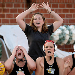 Monrovia's bench reacts after a missed shot on gaol against Temple City in the second half of a prep water polo match at Monrovia High School in Monrovia, Calif., on Thursday, February 5, 2015. Temple City won 14-11.