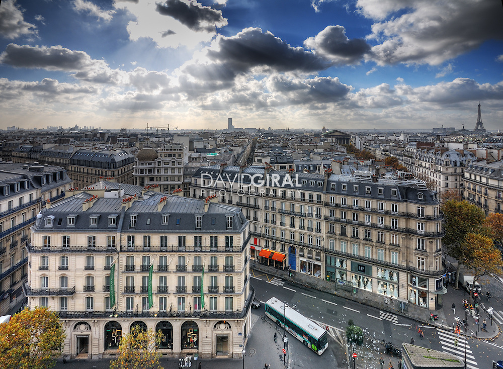 Picture of les grands boulevards and Paris Skyline, France
