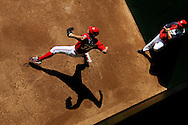 Stephen Strasburg of the Washington Nationals warms up in the bullpen before his start against the Atlanta Braves at Nationals Park.