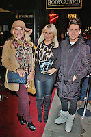 LONDON - December 05: Sam Faiers, Billie Faiers & Joey Essex at The Bodyguard - Gala Night (Photo by Brett D. Cove)