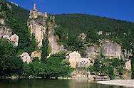 France, Languedoc Roussillon, Lozère, Cévennes, Gorges du Tarn, village de Castelbouc
