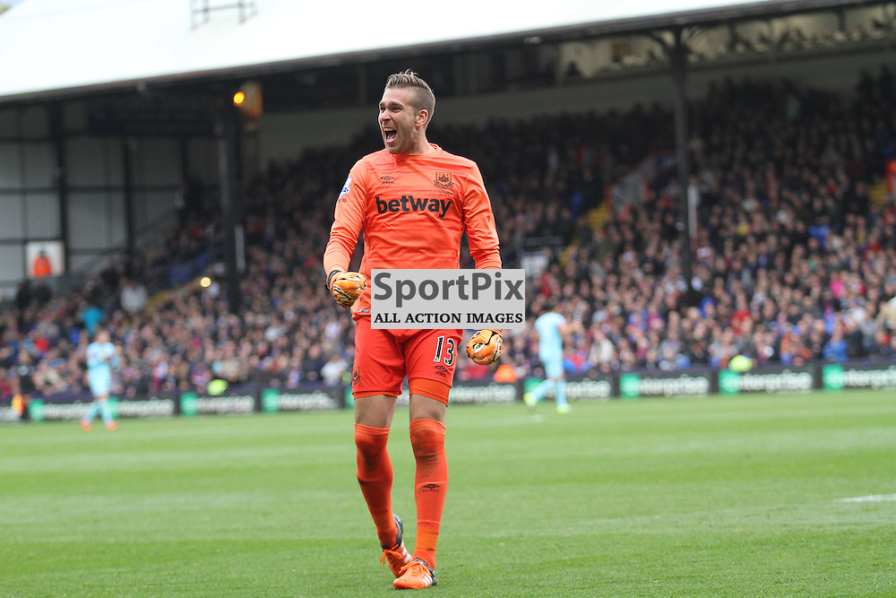 Adrian celebrates west hams goal