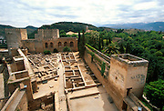 SPAIN, ANDALUSIA, GRANADA Alhambra; the Alcazaba fortress