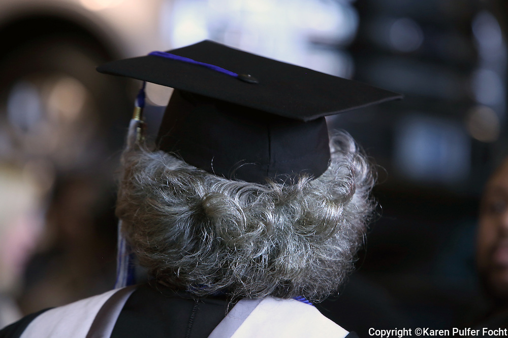 Elderly population getting higher education. Graduation day in Memphis.
