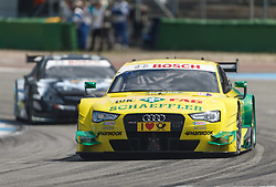04.05.2014, Hockenheimring, Hockenheim, GER, DTM, 1. Lauf, Hockenheimring, Rennen, im Bild Mike Rockenfeller (Audi RS5 DTM) // during the 1th run of DTM at the Hockenheimring in Hockenheim, Germany on 2014/05/06. EXPA Pictures © 2014, PhotoCredit: EXPA/ Eibner-Pressefoto/ Neis<br /> <br /> *****ATTENTION - OUT of GER*****