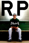 A portrait of Reeths-Puffer's Drew Johnson. Johnson is the leading returner for the Rockets as pitcher and at shortstop..