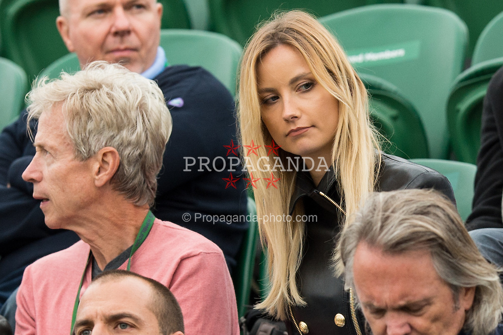 LONDON, ENGLAND - Monday, July 4, 2016:  Tomas Berdych (CZE) girlfriend during the Gentlemen's Single 4th Round match on day eight of the Wimbledon Lawn Tennis Championships at the All England Lawn Tennis and Croquet Club. (Pic by Kirsten Holst/Propaganda)
