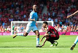 Raheem Sterling of Manchester City celebrates scoring the winning goal. - Mandatory by-line: Alex James/JMP - 26/08/2017 - FOOTBALL - Vitality Stadium - Bournemouth, England - Bournemouth v Manchester City - Premier League