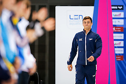 Tom Daley of Great Britain is introduced to the crowd during the Mens 10m Platform Final, going on to win the Gold Medal with a score of 570.50 - Mandatory byline: Rogan Thomson/JMP - 15/05/2016 - DIVING - London Aquatics Centre - Stratford, London, England - LEN European Aquatics Championships 2016 Day 7.