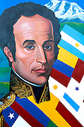 ECUADOR, QUITO, HISTORY Portrait of Simon Bolivar, liberator of  many South American countries from Spanish rule
