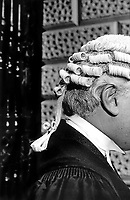 Detail of a barrister's wig
