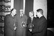 Opening of Kilkenny Design Workshop. Dr. P.J. Hillery, Minister for Industry and Commerce; J.G. Duggan, Director of the workshops; C.H. Murray, Asist. Sec., Department of Finance; and Colm Barnes, Director.<br /> 15.11.1965
