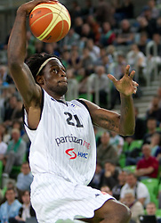 James Gist of Partizan during first semi-final match of Basketball NLB League at Final four tournament between KK Partizan Belgrade, Serbia and KK Buducnost Podgorica, Montenegro, on April 19, 2011 in Arena Stozice, Ljubljana, Slovenia. (Photo By Vid Ponikvar / Sportida.com)