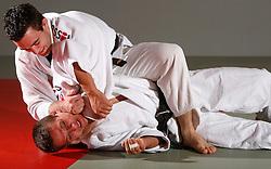 Sedej Aljaz and Simon Mohorovic (under) of Judo Klub Bezigrad, on October 10, 2007, in Ljubljana, Slovenia.  (Photo by Vid Ponikvar / Sportida)