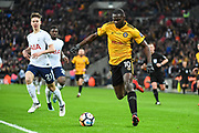 Newport County Forward Frank Nouble (10) sets up the cross during the The FA Cup 4th round replay match between Tottenham Hotspur and Newport County at Wembley Stadium, London, England on 7 February 2018. Picture by Stephen Wright.