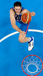 Kosta Perovic of Serbia during basketball game between National basketball teams of Slovenia and Serbia in 7th place game of FIBA Europe Eurobasket Lithuania 2011, on September 17, 2011, in Arena Zalgirio, Kaunas, Lithuania. Slovenia defeated Serbia 72 - 68 and placed 7th. (Photo by Vid Ponikvar / Sportida)