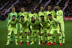 February 10, 2019 - Bilbao, Vizcaya, Spain - Line up pf FC Barcelona during the week 23 of La Liga between Athletic Club and FC Barcelona at San Mames stadium on February 10 2019 in Bilbao, Spain. (Credit Image: © Jose Breton/NurPhoto via ZUMA Press)