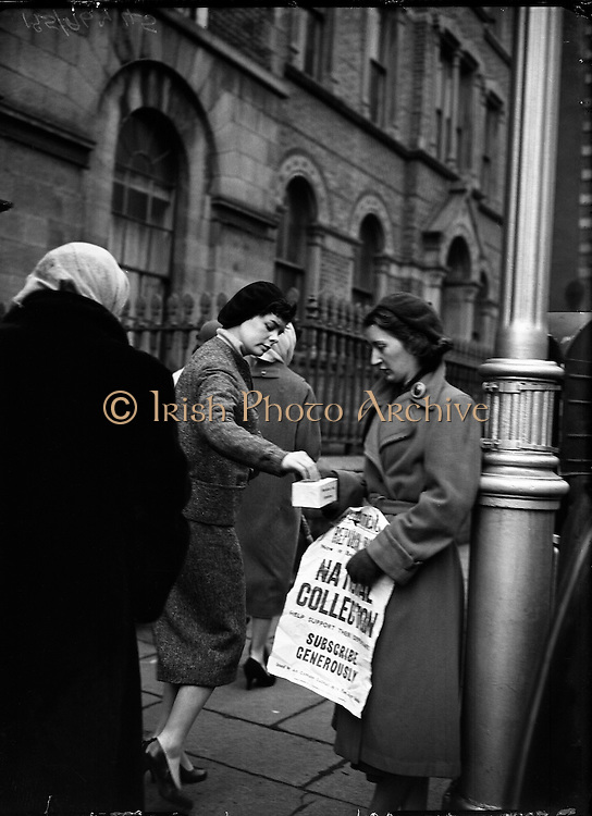 Collections for Rehabilitation Aid Committee - Special for Belfast Telegraph. 23/12/1956