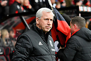 West Bromwich Albion manager Alan Pardew during the Premier League match between Bournemouth and West Bromwich Albion at the Vitality Stadium, Bournemouth, England on 17 March 2018. Picture by Graham Hunt.