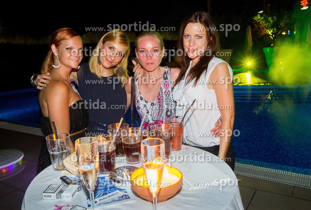 , Urska Ham and Lea Stumberger at Players Pool Party during Day Two of tennis tournament ATP Challenger Tilia Slovenia Open 2013 on July 3, 2013 in Hotel Kempinski, Portoroz / Portorose, Slovenia. (Photo by Vid Ponikvar / Sportida.com)
