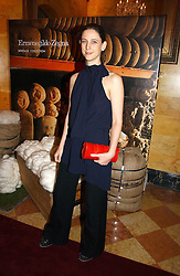 MARIA GRACHVOGEL at a party to launch the Ermenegildo Zegna Heritage Collection fo men at The Duchess Palace, Mansfield Street, London on 30th November 2006.<br />