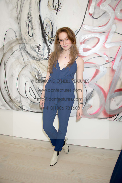 Actress LOTTIE TOLHURST at the opening of the exhibition Champagne Life in celebration of 30 years of The Saatchi Gallery, held on 12th January 2016 at The Saatchi Gallery, Duke Of York's HQ, King's Rd, London.