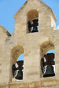 Saintes-Maries-de-la-Mer, Camargue, France the church bell tower